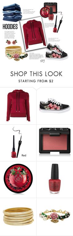 """Hoodies"" by s-p-j ❤ liked on Polyvore featuring Helmut Lang, Vans, NARS Cosmetics, OPI, Bagutta, Dolce&Gabbana and Hoodies"