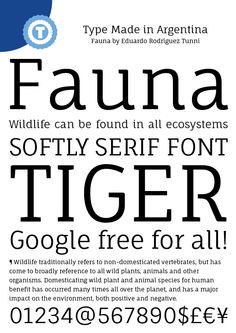 Fauna - Free Google Web Font by Eduardo Tunni, via Behance