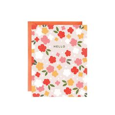 hellow floral greeting card - minna may