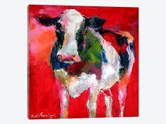 Cow by Richard Wallich 1-piece Canvas Artwork