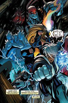 Age of Apocalypse X-Men °° Comic Book Covers, Comic Books Art, Comic Art, Marvel Storyline, Marvel Characters, Univers Marvel, Marvel Comics Art, Marvel Dc Comics, X Men