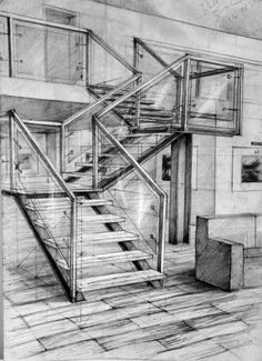 21 Stairs Pencil Drawing Ideas – Decor is art Interior Architecture Drawing, Architecture Drawing Sketchbooks, Interior Design Sketches, Architecture Design, Classical Architecture, Perspective Sketch, Perspective Drawing Lessons, Architect Drawing, Belle Photo