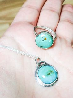 Royston Turquoise and Silver Necklace U.S. Mined by HotTorStudio