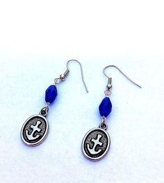 Blue and silver anchor earrings nautical earrings by BeadingByJenn, $12.00 #jewelry #earrings #anchor #anchors #anchorearrings #nautical #nauticalearrings #nauticaljewelry #blue #cobaltblue #handmade #handmadejewelry #beadingbyjenn #pcfteam #etsy #wanelo #accessories #summerfashion