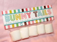 Lila Kate's easy Easter favor treat - bunny tails!
