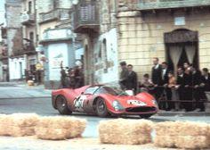1966, Targa Florio. Nino Vaccarella-Lorenzo Bandini's Ferrari 330 P3 Spyder.