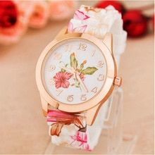 Cheap wristwatch brand, Buy Quality wristwatch girl directly from China wristwatch women Suppliers: 2016 Fashion Brand Women Watch Reloj Rose Flower Print Silicone Floral Jelly Dress Watches Lady Girls Causal Quartz WristWatches