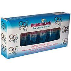 BubbleLick Safe Edible Party Blow Bubbles, Pack of 6 Bottles