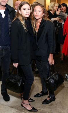 Mary-Kate and Ashley Wore Matching Outfits in L.A. Last Night   WhoWhatWear