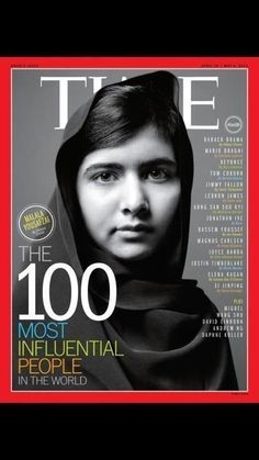 Ésta y todas las luchas en favor de la dignidad humana me conmueven. What do you think of Malala Yousafzai on the cover of Time? Malala Yousafzai, Richard Branson, Martin Luther King, Steve Jobs, Oprah, Presidente Obama, Chelsea Clinton, Time Magazine, Magazine Covers