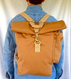 Day Bag Canvas Backpack | This backpack features adjustable cotton webbing straps, a gra... | Backpacks