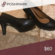 NWOT!Clarks soft cushion size 6 black pumps. Clarks soft cushion size 6 black pumps. New! Clarks Shoes Heels