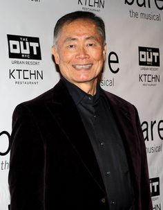 Star Trek favorite George Takei is glad to support Bare director Stafford Arima, who recently helmed the California production of the Takei-starred musical Allegiance.(© Miguel Munguia)