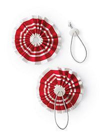 Patrióticos anéis de guardanapo - Artesanato Martha Stewart