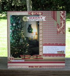 CHA Summer Release: Home For Christmas Layout by Vicki Chrisman (Fancy Pants)