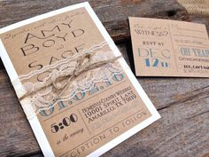 A personal favorite from my Etsy shop https://www.etsy.com/listing/250758874/vintage-rustic-shabby-chic-kraft-wedding