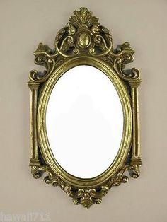 Buy Cheap Exclusivo Espejo De Pared Ovalado Antiguo Barroco Vestidor En Oro 50x76 Cm Muebles Antiguos Y Decoración Espejos