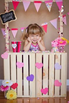 Valentine kissing booth.  Smaller than my rustic one, but would work for younger toddlers.