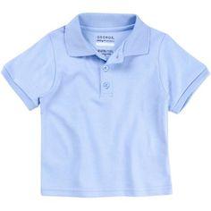 George Toddler Boy or Girl Unisex School Uniform Short Sleeve Polo Shirt