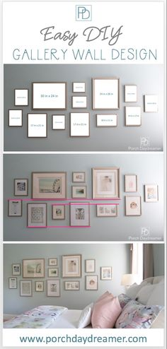 a Gallery Wall That Looks Like a Designer Did It! Create a Gallery Wall That Looks Like a Designer Did It!Create a Gallery Wall That Looks Like a Designer Did It! Gallery Wall Bedroom, Gallery Wall Layout, Photo Gallery Walls, Photo Walls, Gallery Wall Art, Photo Wall Layout, Photo Wall Design, Eclectic Gallery Wall, Wall Decor Design