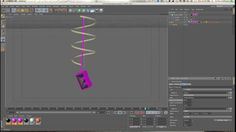 Springs & Spline Dynamics in Cinema 4D Tutorial Part 01: Hanging Objects On a String by EJ Hassenfratz. My next few tutorials are going to be utilizing the combination of Spring & Spline Dynamics together  to get some really cool dynamic animation. In part 1 of this series, I'm going to go over how to use Springs & Spline Dynamics to make an object dangle off of a string.  It's a pretty simple set up and it allows for a lot of control to tweak to get the right type of dynamic movement…