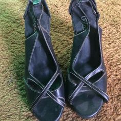 Black sling back heels 2.5 inch sling back heels. Some light marks from being worn but in near perfect condition. Shoes Heels