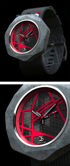 Concept watch - red