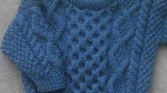 b72580b2c Bruadair infant aran sweater - knitting pattern at Makerist