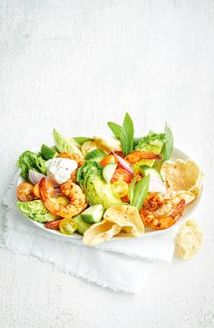 #salad #saladrecipes #prawns