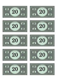 Monopoly Money 20