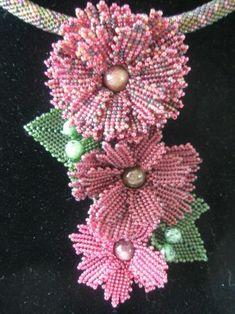 Beaded flowers necklace May be helpful regarding a cornflower