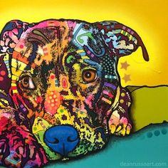 Perceptive Pit Bull Print, Dog Park Publishing