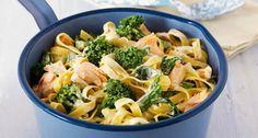 """Edle Variante der """"One Pot Pasta"""". Etwas Zitrone und Crème fraîche verleihen den Nudeln vollmundigen Geschmack"""