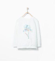 ZARA - KIDS - Shiny flower sweatshirt