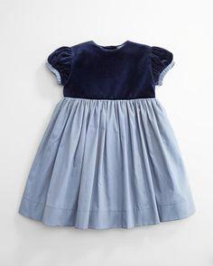 Oscar de la Renta /Velvet and Voile Party Dress