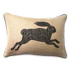 PATCH NYC - PILLOWS - RABBIT PILLOW {CP2B.R}  Love this little rabbit pillow.