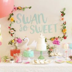 Pippa & Co Swan dessert table