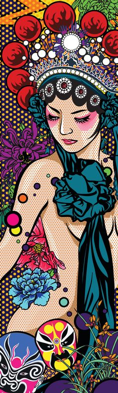 Skateboard Design (Beijing opera-illustration) A merge of pop art and Chinese culture.