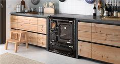 Cocina DEVA 75 N. Fabricado en hierro fundido y sistema de aire primario.