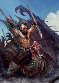 Bat Georgi the Dragon Slayer, Miroslav Petrov on ArtStation at https://www.artstation.com/artwork/m018y