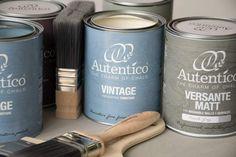 Autentico Chalk Paint è una gamma completa di vernici gesso,linea Vintage per interni e Versante con filtro per umidità Cucine e Bagni filtro UV per esterni