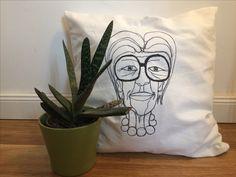Iris Apfel throw pillow by Luttklub  Etsy shop: Luttklub