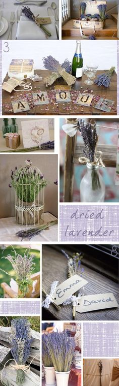 Dried Lavender Wedding Inspiration