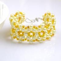Free jewelry designs and tutorials. Learn to make skillful projects on how to bead bracelets. This tutorial is a good start to creating more exquisite handmade jewelry ornaments.