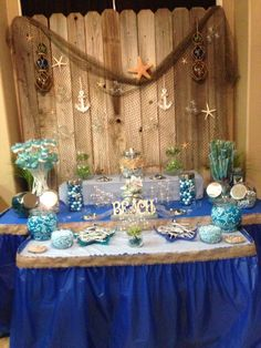 Ocean Themed Candy Bar