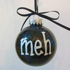 Holiday Christmas Ornament  Holiday Humbug  by RhythmsofGraceArt