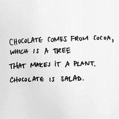 Chocolate é sempre a melhor opção