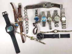 Fossil/Nixon Estate Lot Of 14 Mens Womens Wristwatches Quartz 1.14lbs  #A-88-17  #FossilNixon