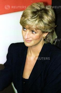 19 September, 1995 Diana, Princess of Wales attends the Parkinson's Disease Research Centre at King's College September 19. The Princess who has been Patron of the Parkinson's Disease Society in the United Kingdom since 1989, met young members of the British research team working to alleviate and cure the disease