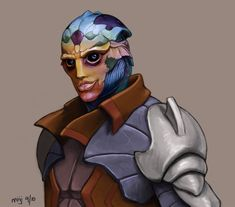 Forever wishing there had been more Drell in ME. #MassEffect #Feron